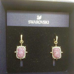 Swarovski New Pave Pink w/Reversible Crystal ER